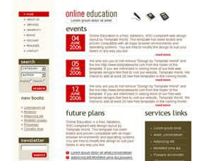 Online Education Free CSS Template