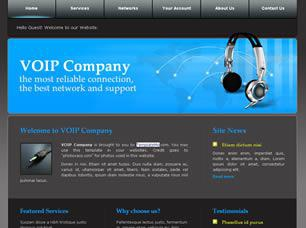 VOIP Company Free CSS Template