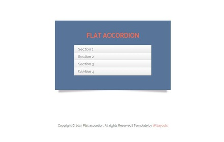 Accordion Flat Responsive Widget Template