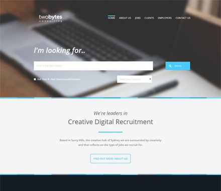 Two bytes a Minimal Multipurpose Flat Bootstrap Responsive web template