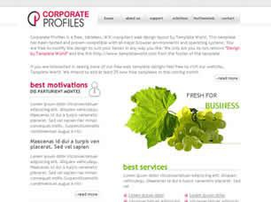 Corporate Profiles Free CSS Template