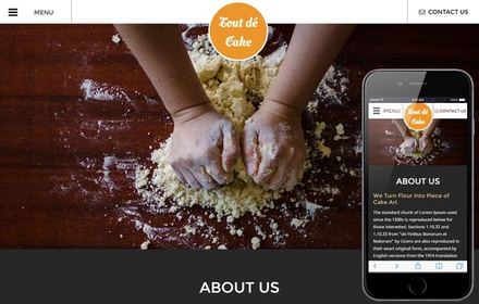 Tout de Cake a Hotels and Restaurants Responsive Web Template