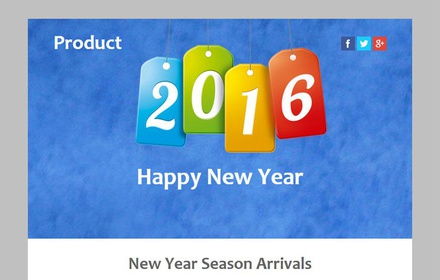 Product a New year Season Newsletter Responsive Web Template